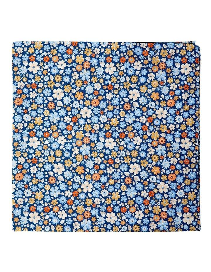 Micro Flora Silk Pocket Square-Blue image 1