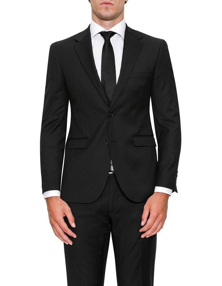 Modern Fit Serra Black Suit Jacket FYF001 image 1