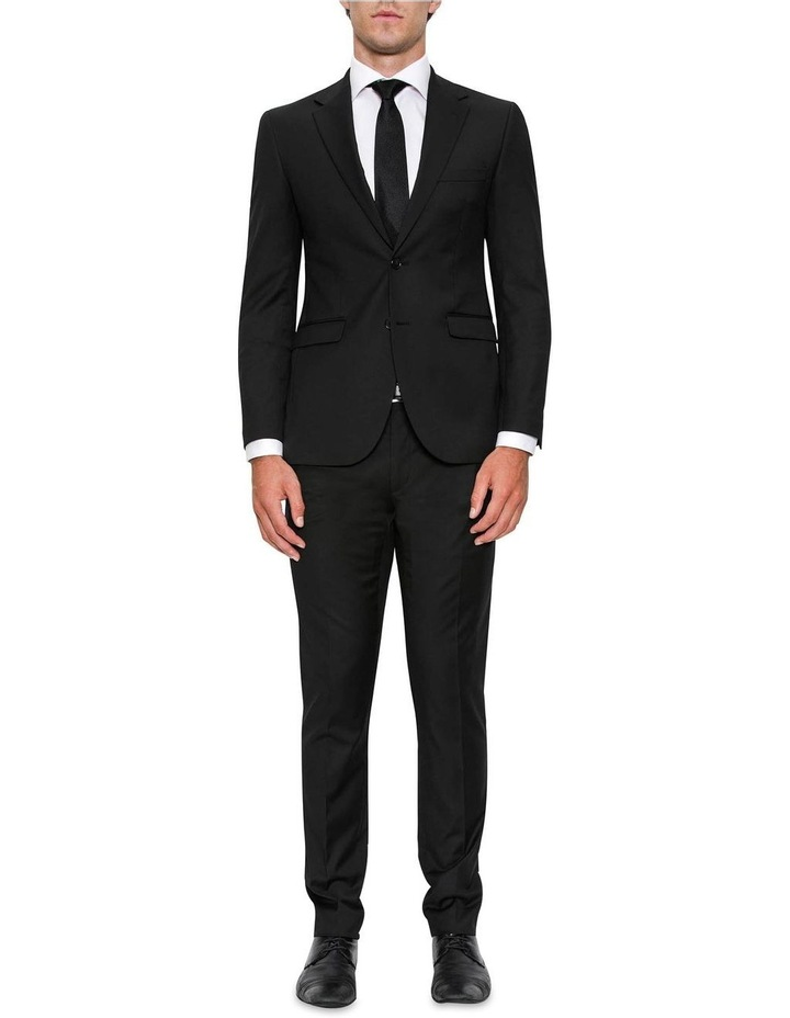 Modern Fit Serra Black Suit Jacket FYF001 image 2