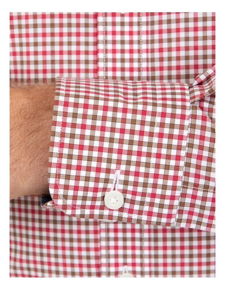 Modern Fit Pink Check Brighton Business Shirt FCL230 image 4