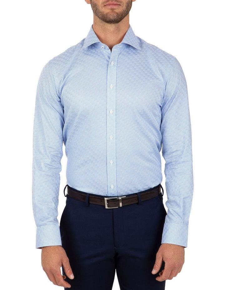 Modern Fit Blue Check Carlton Business Shirt FCL246 image 1