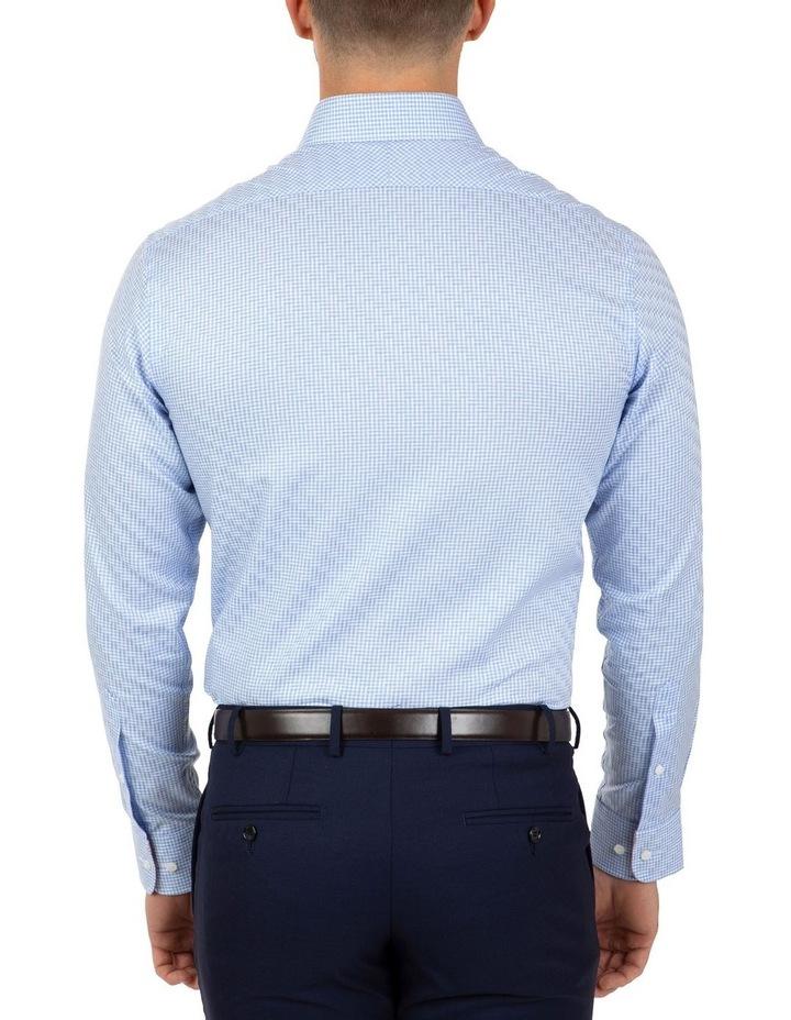 Modern Fit Blue Check Carlton Business Shirt FCL246 image 2