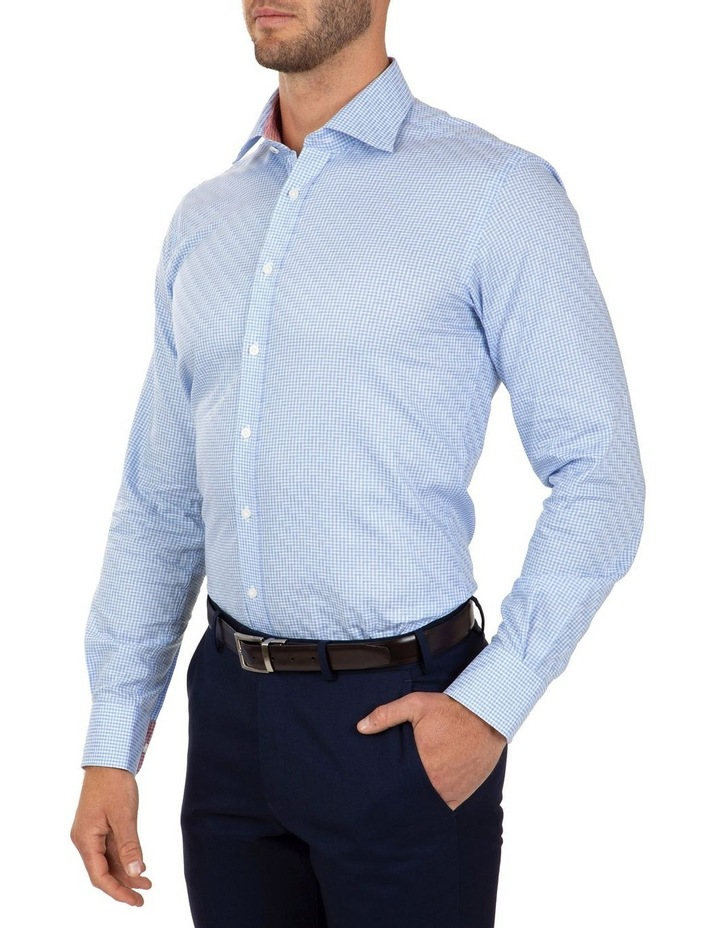 Modern Fit Blue Check Carlton Business Shirt FCL246 image 3