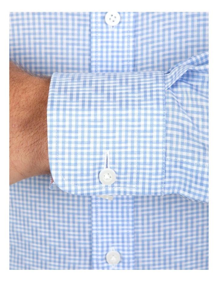 Modern Fit Blue Check Carlton Business Shirt FCL246 image 4