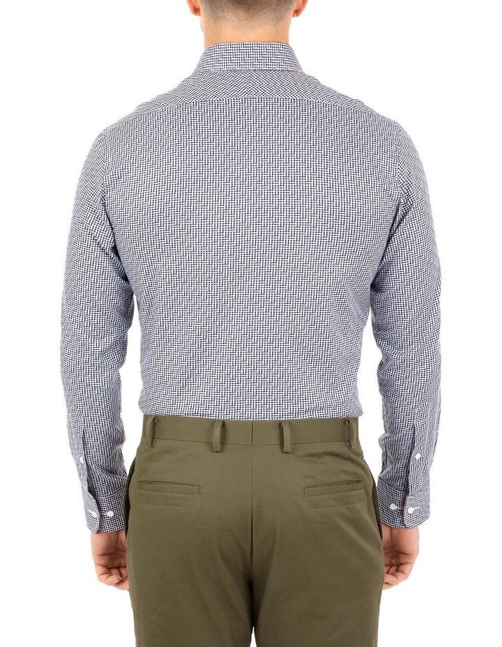 Modern Fit Navy Check Carlton Business Shirt FCL246 image 2