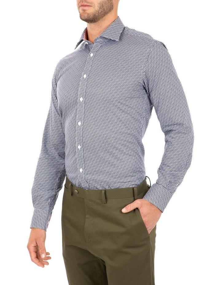 Modern Fit Navy Check Carlton Business Shirt FCL246 image 3