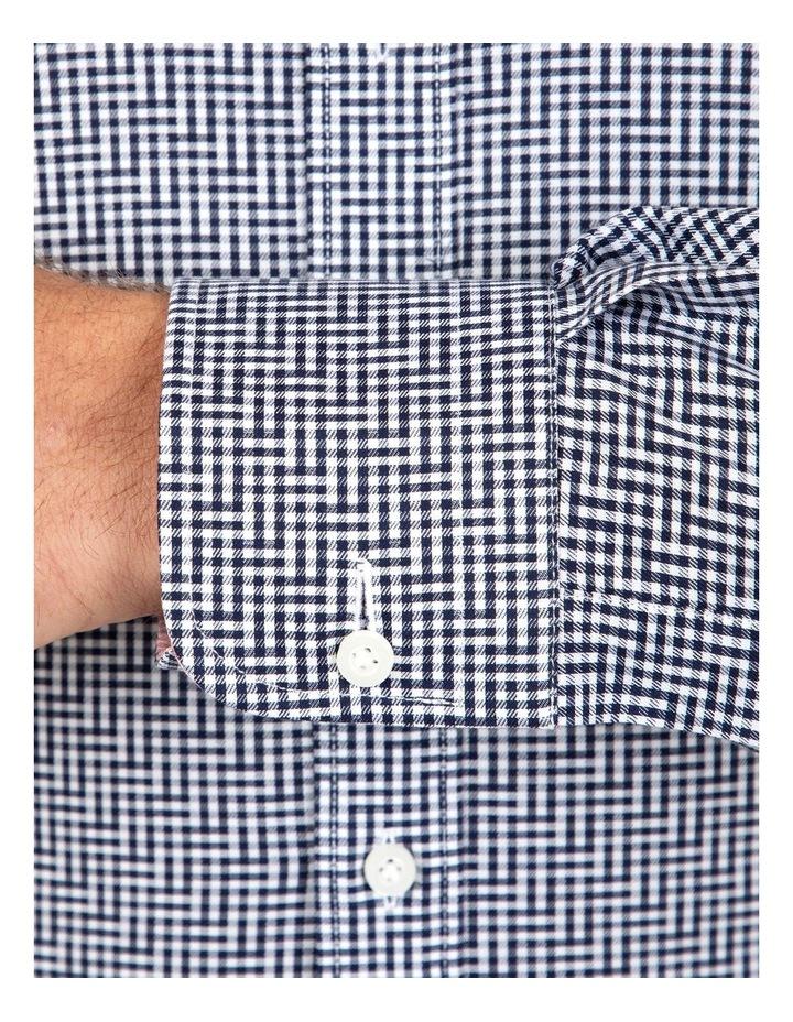Modern Fit Navy Check Carlton Business Shirt FCL246 image 4