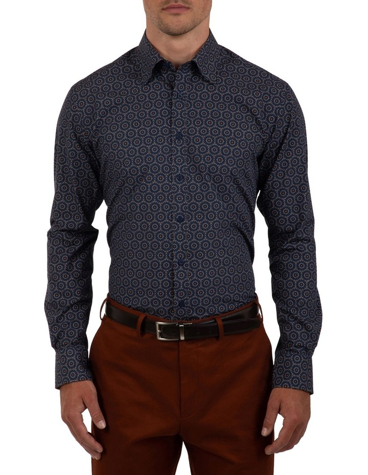 Modern Fit Navy Aspendale Business Shirt image 1