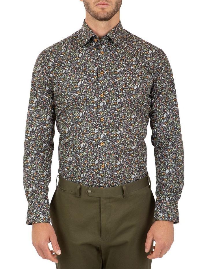 Modern Fit Black Floral Aspendale Business Shirt image 1