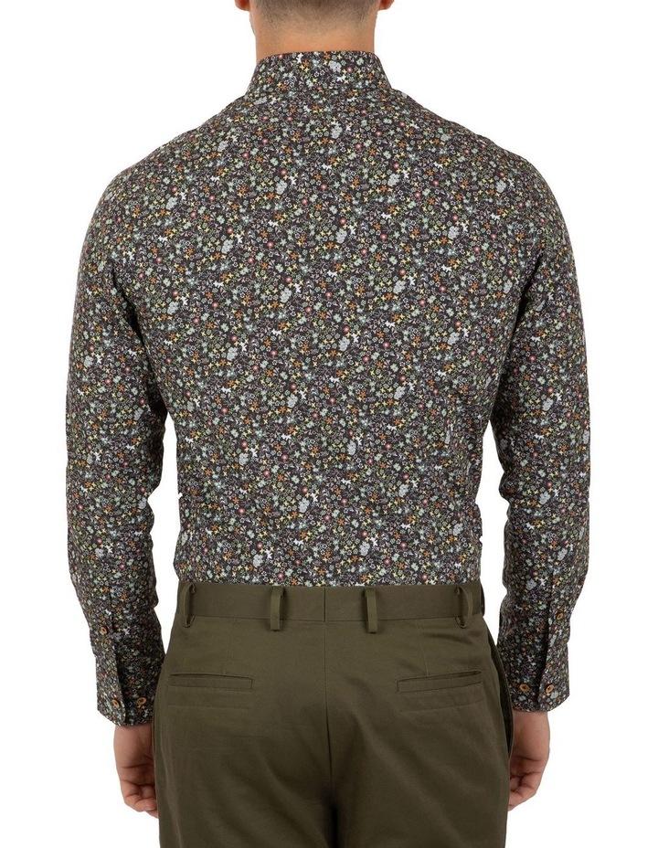 Modern Fit Black Floral Aspendale Business Shirt image 2