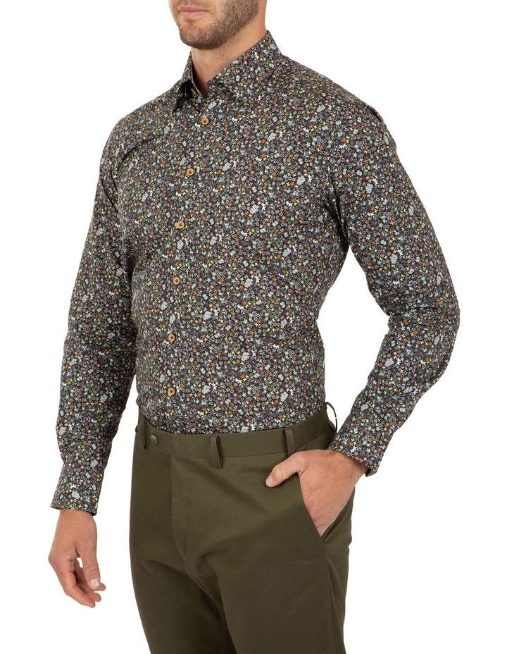 Modern Fit Black Floral Aspendale Business Shirt image 3