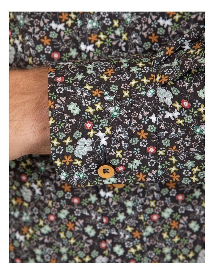 Modern Fit Black Floral Aspendale Business Shirt image 4