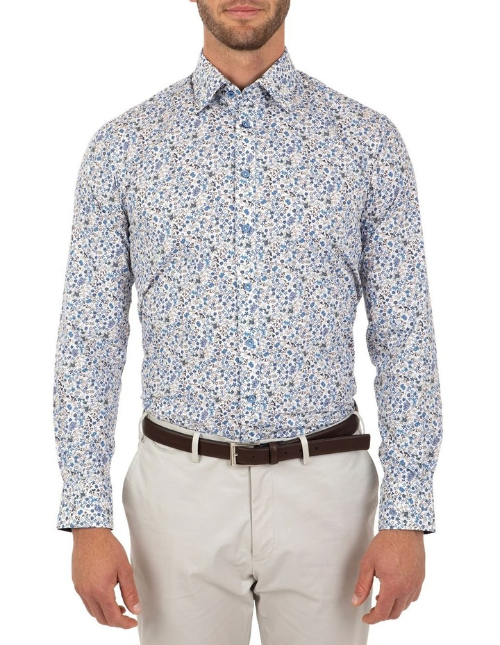 Modern Fit White Floral Aspendale Business Shirt image 1