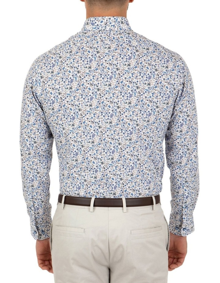 Modern Fit White Floral Aspendale Business Shirt image 2