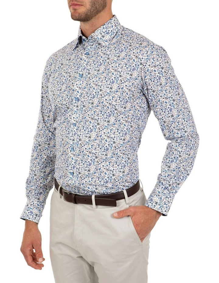 Modern Fit White Floral Aspendale Business Shirt image 3
