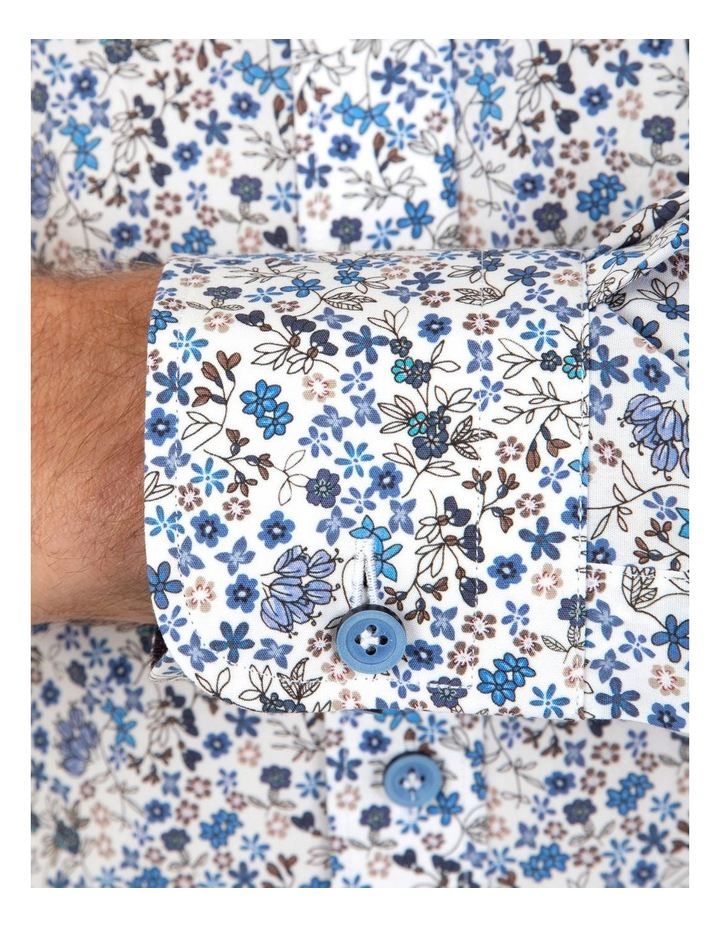 Modern Fit White Floral Aspendale Business Shirt image 4