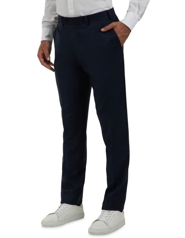 Modern Fit Keane Navy Flannel Trouser FAJ786 image 2