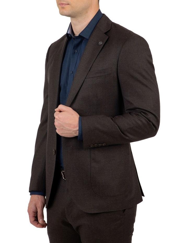Modern Fit Beaumaris Chocolate Flannel Jacket FAJ783 image 2