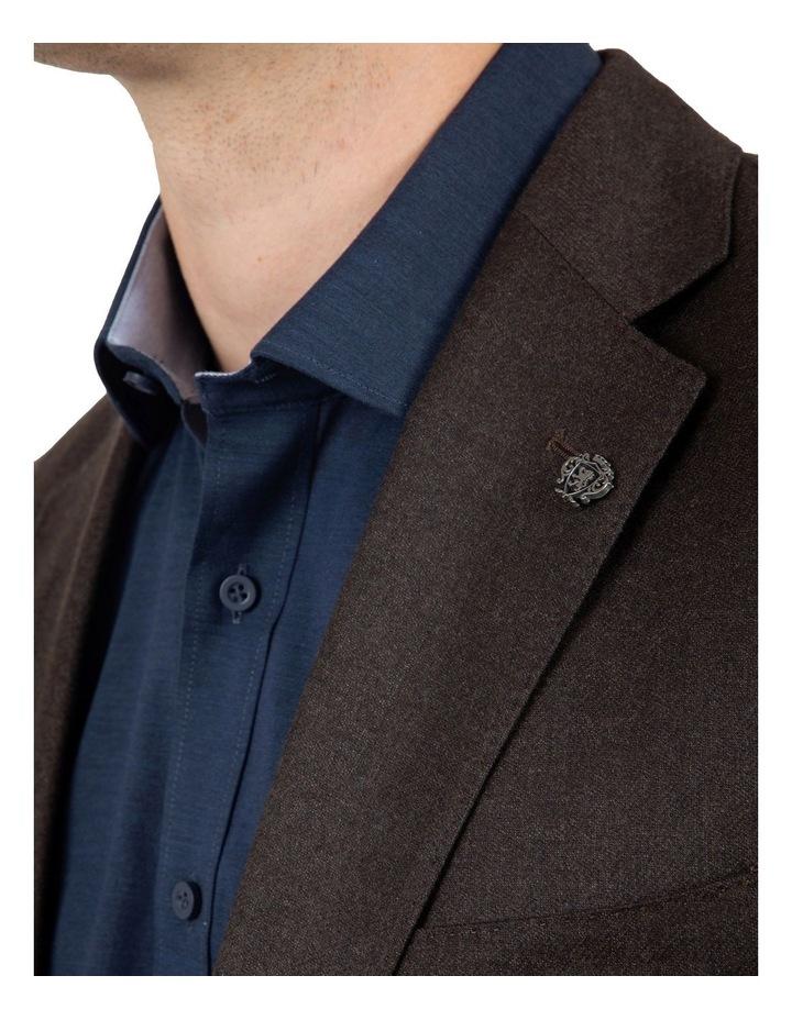 Modern Fit Beaumaris Chocolate Flannel Jacket FAJ783 image 4