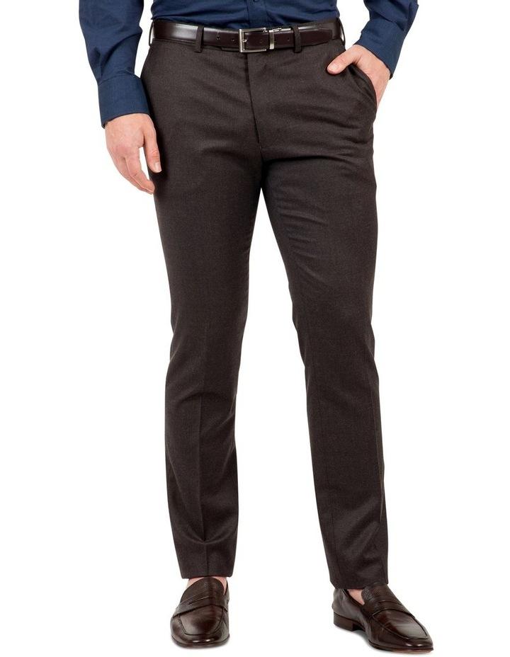 Modern Fit Keane Chocolate Flannel Trouser FAJ783 image 1