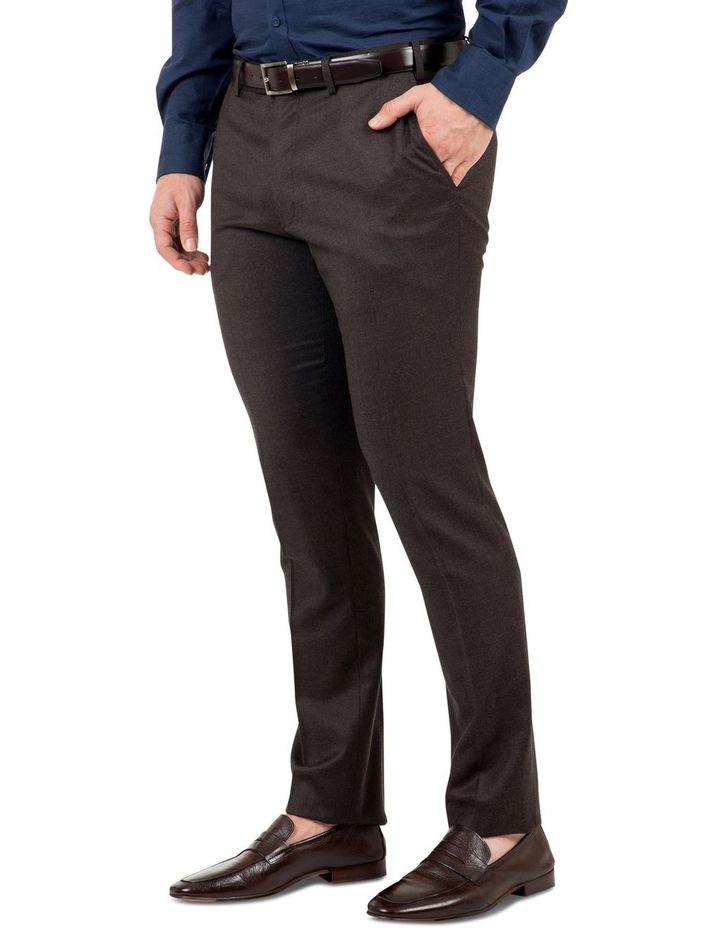 Modern Fit Keane Chocolate Flannel Trouser FAJ783 image 2