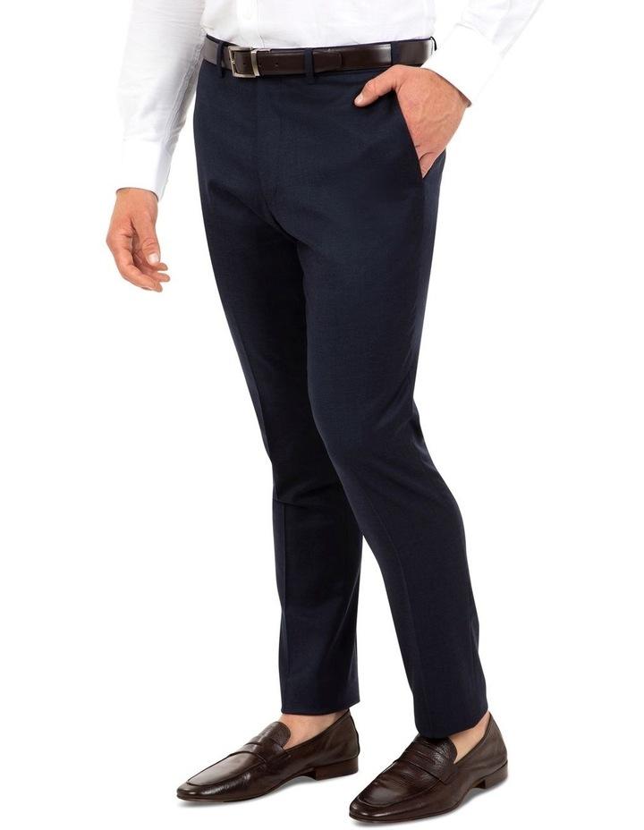 Modern Fit Keane Navy Flannel Trouser FAJ784 image 2