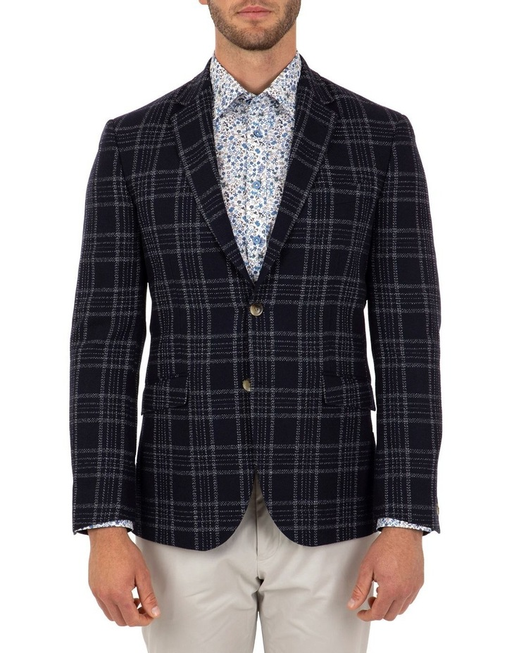 Modern Fit Hawthorn Navy Check Jacket FCL212 image 1