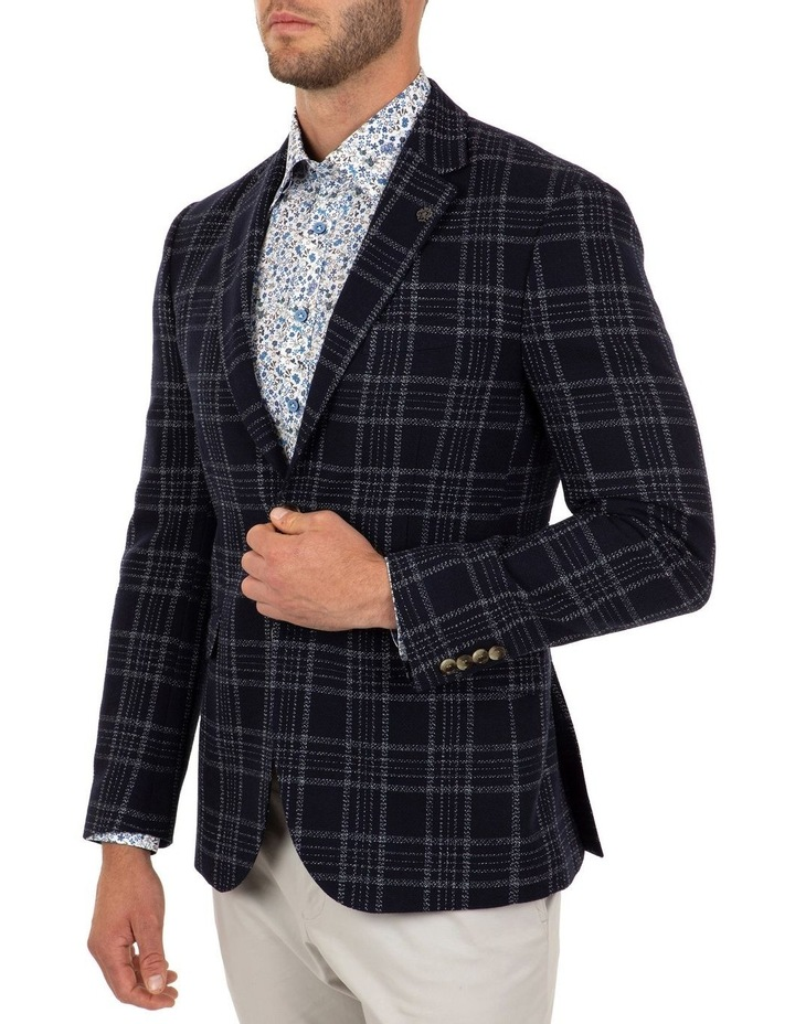 Modern Fit Hawthorn Navy Check Jacket FCL212 image 2
