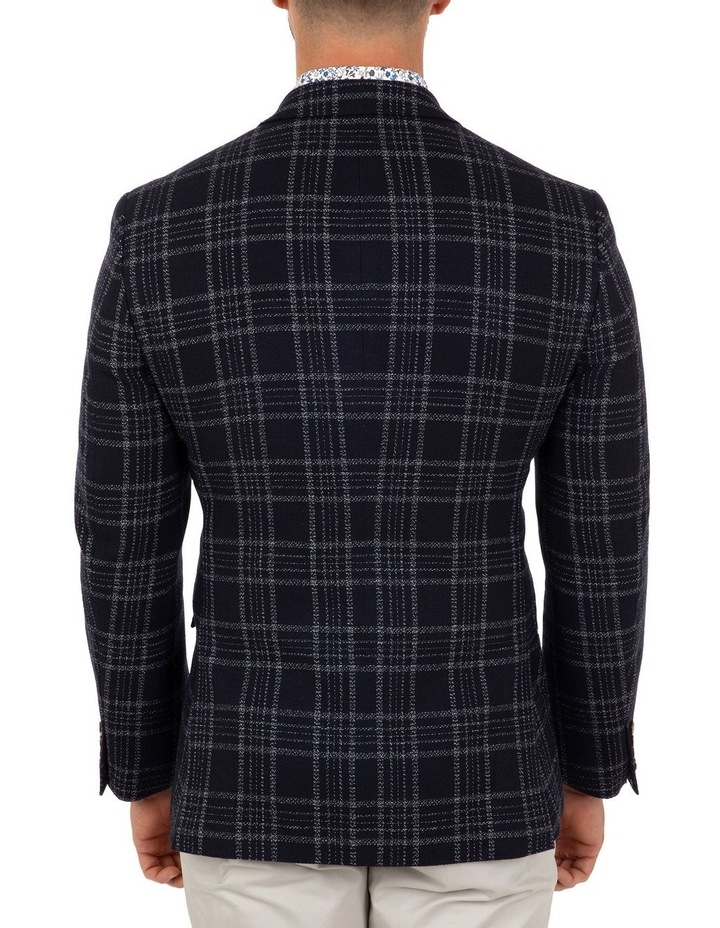 Modern Fit Hawthorn Navy Check Jacket FCL212 image 3