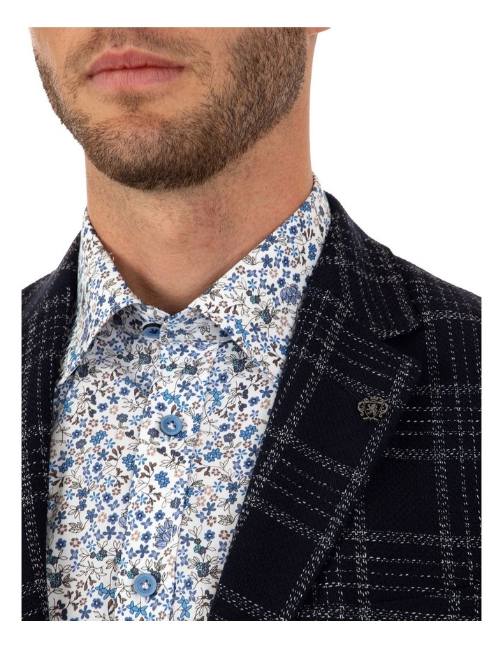 Modern Fit Hawthorn Navy Check Jacket FCL212 image 4