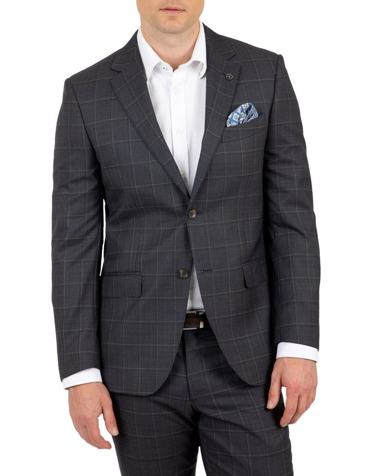 Modern Fit Morse Charcoal Check Suit Jacket image 1