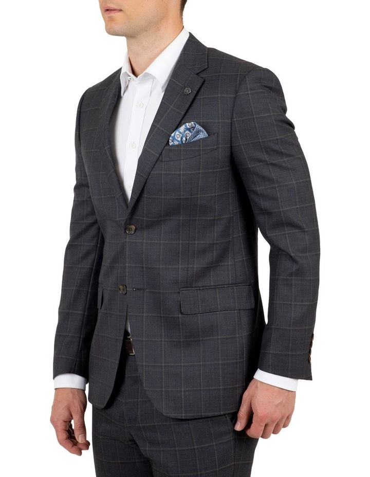 Modern Fit Morse Charcoal Check Suit Jacket image 2