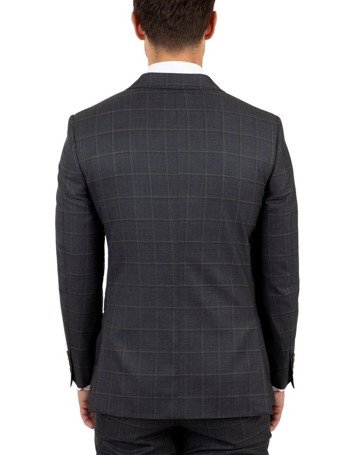 Modern Fit Morse Charcoal Check Suit Jacket image 3