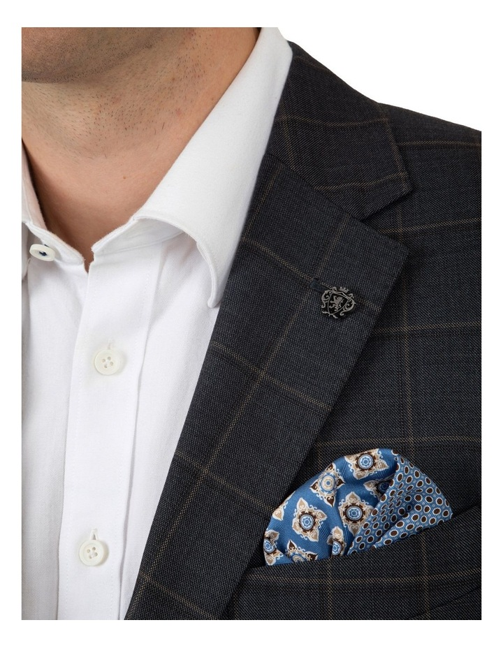 Modern Fit Morse Charcoal Check Suit Jacket image 4