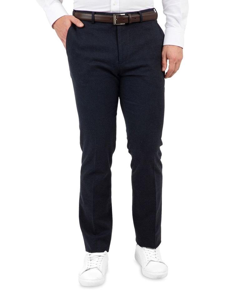 Modern Fit Fabian Denim Blue Cotton Trouser image 1