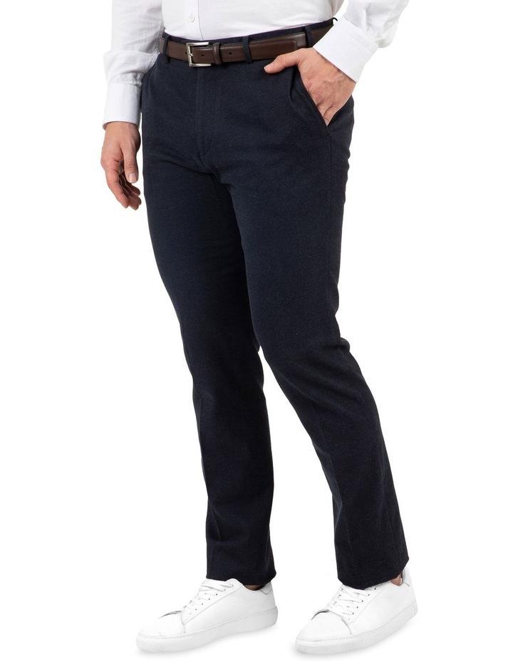 Modern Fit Fabian Denim Blue Cotton Trouser image 2
