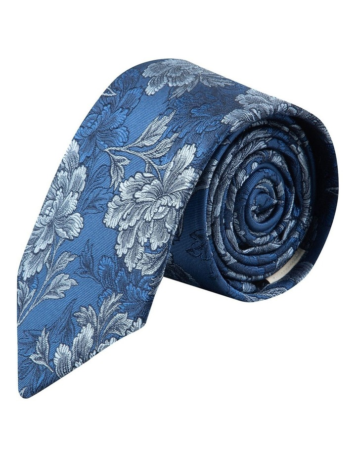 Blue Peony 7.5cm Silk Tie image 1