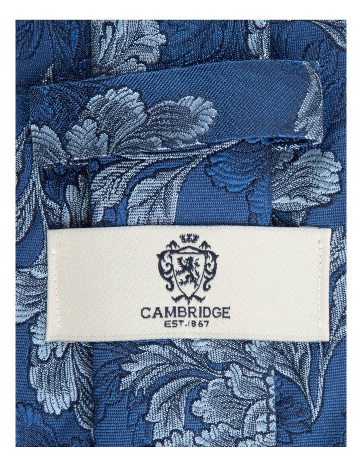 Blue Peony 7.5cm Silk Tie image 2