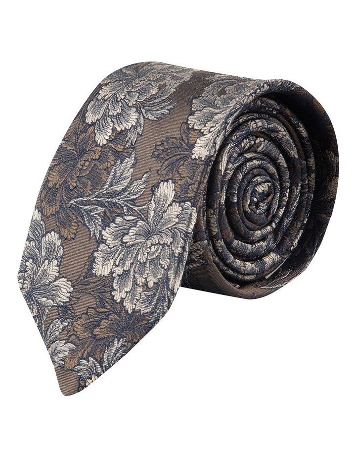 Coffee Peony 7.5cm Silk Tie image 1