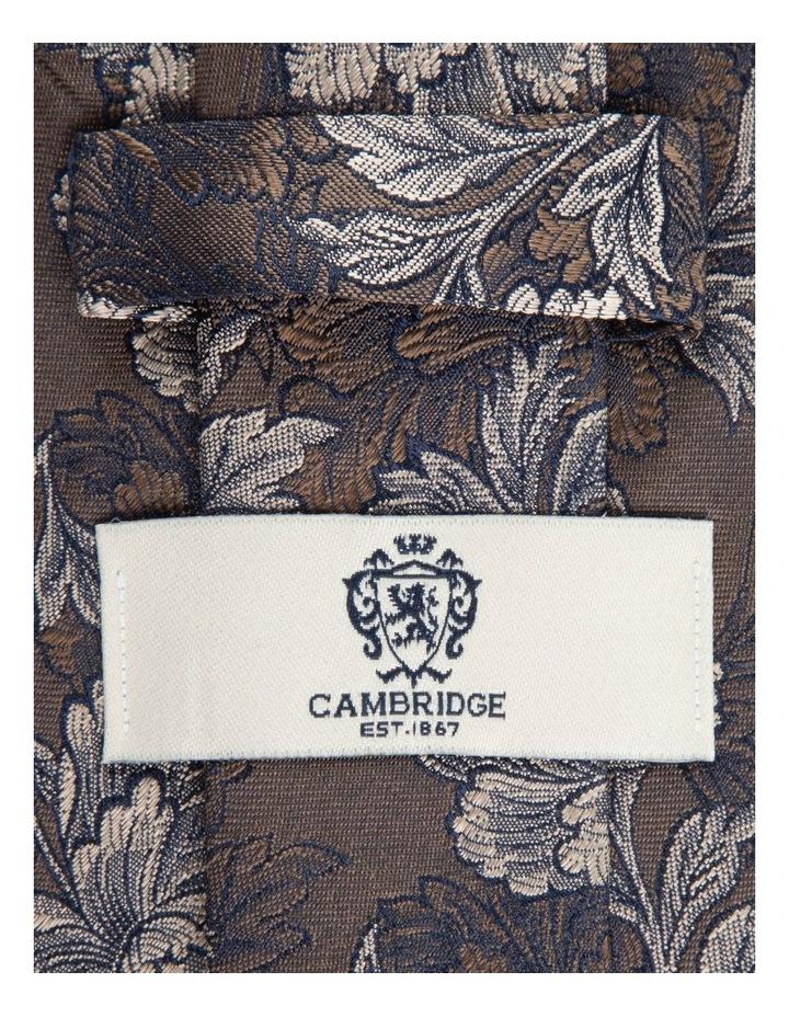 Coffee Peony 7.5cm Silk Tie image 2