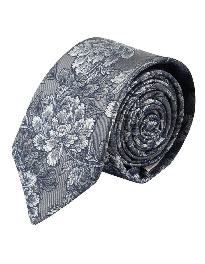 Grey Peony 7.5cm Silk Tie image 1