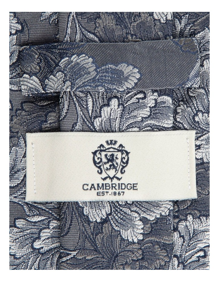 Grey Peony 7.5cm Silk Tie image 2