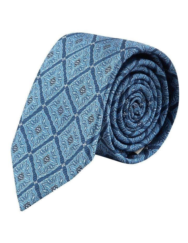 Blue Square Foulard 7.5cm Silk Tie image 1