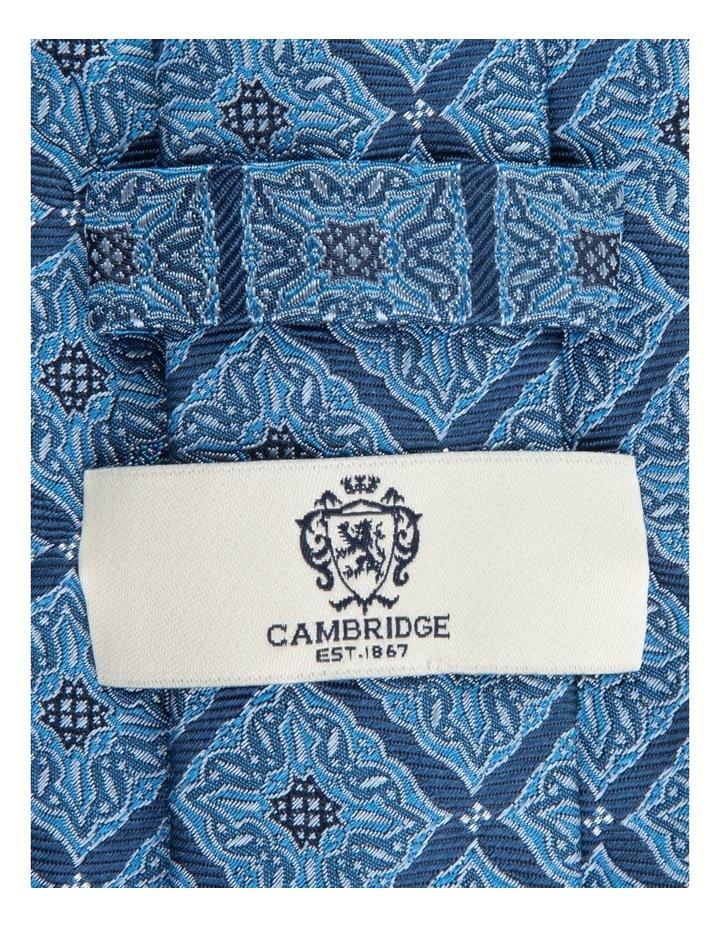 Blue Square Foulard 7.5cm Silk Tie image 2