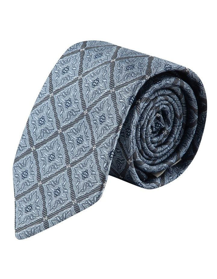 Grey Square Foulard 7.5cm Silk Tie image 1