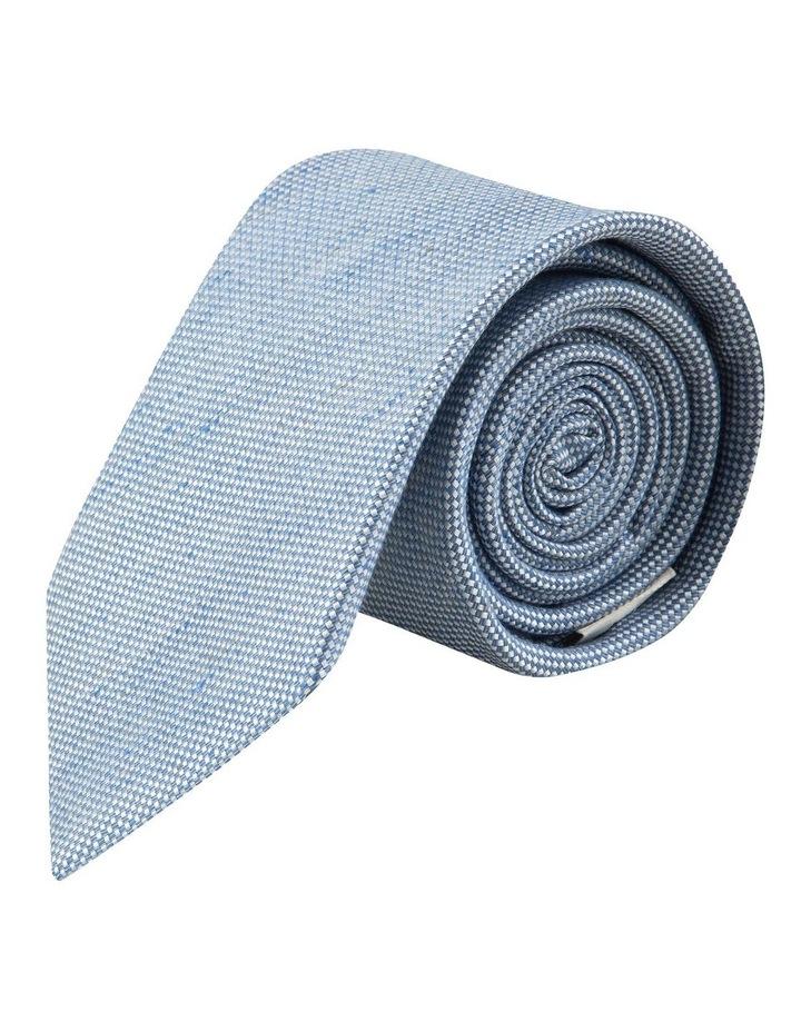 Blue Linen Silk 7.5cm Tie image 1