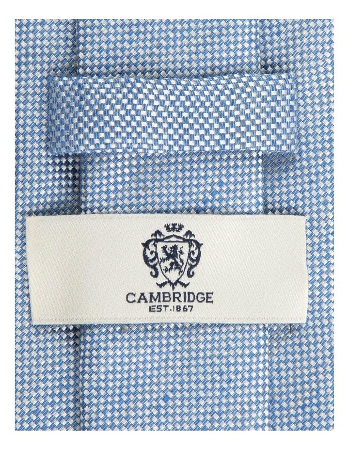 Blue Linen Silk 7.5cm Tie image 2