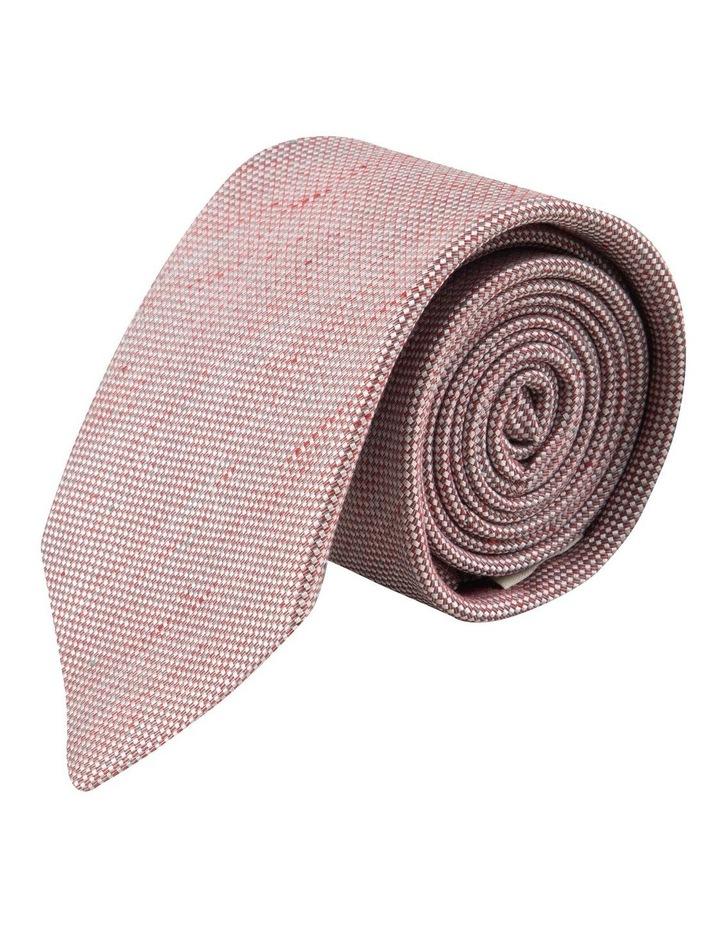 Red Linen Silk 7.5cm Tie image 1