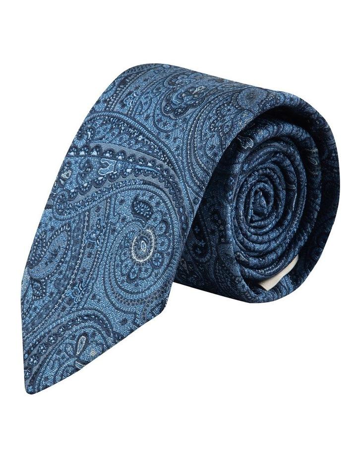 Blue Iris Paisley 7.5cm Silk Tie image 1