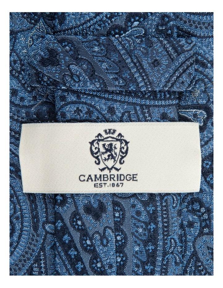 Blue Iris Paisley 7.5cm Silk Tie image 2